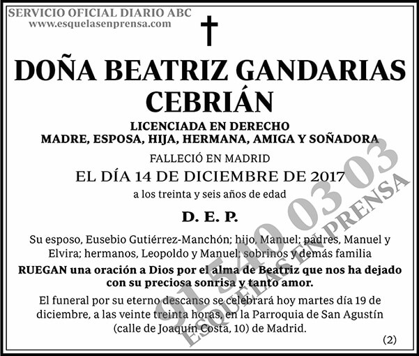 Beatriz Gandarias Cebrián